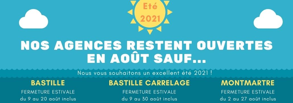 Slide FERMETURE ESTIVALE 2021